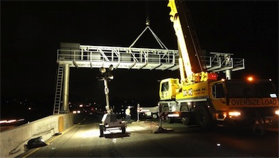 I-80 Sign Frame Installation Aug 2014