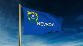 Nevada Flag Wind