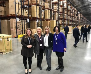 Pictured l-r:  Beth Frisher, Port of Oakland; Susan Ransom, OICT/SSA: Jane Bedard, Expeditors International; Karen Vellutini, Devine Intermodal