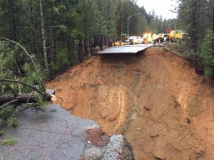 Washout on exit of I-80.