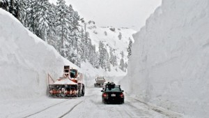 Donner Summit, the mountain pass between Oakland and Reno.