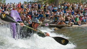 Eric Jackson competes at the Reno Riverfestival held along the Truckee River in the center of town. (Scott Sady)